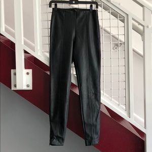 High waisted vegan leather pant small